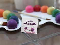 artist pallet + cake balls = great idea
