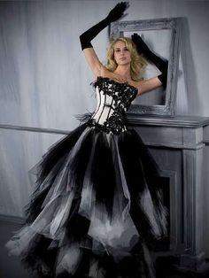 Black White Quinceanera Dress Wedding Dresses Ball Gown Prom Evening Dress 2012 | eBay