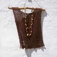 Boho chic sweater. Love this brown chocolate knit tank vest!!!