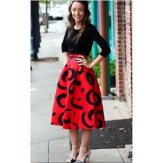 Apostolic Co. Pristilla Cheetah Print Skirt (70 CAD) ❤ liked on Polyvore featuring skirts, multi colored, cheetah skirt, cheetah print skirt, summer skirts, knee length summer skirts and red skirt