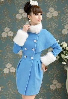 Cape Sweet Double-breasted Coat/Dress