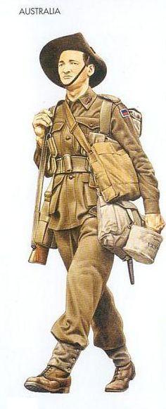 WWII Uniforms - Australia - 1941 Jan., North Africa, Private, 6th Division