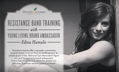 Hi, Young Living members! I'm Edina Hamulic, figure pro with the National Gym Association. I'm looking forward to sharing my resistance band workout with you! I started using resistance band training after giving birth to my son, and I loved how Resistance Band Training, Resistance Band Exercises, Young Living Oils, Young Living Essential Oils, Young Living Distributor, Post Baby Body, Back To Basics, Trends, Brand Ambassador