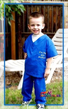 Big Brother or Big Sister Scrubs custom sized or by zooportnews, $29.99