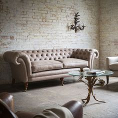 Grenville 3 Seater Sofa in Selvaggion Leather