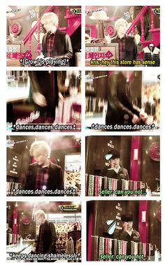 EXO'S SHOWTIME épisode 3 Kris tape une p'tite danse sur Growl avant de payer ^_^