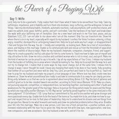 Power of a Praying Wife - modified from Stormie Omartian
