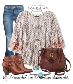 The New Bohemian with American Eagle Outfitters: Contest Entry by bianca-2904 on Polyvore featuring moda, American Eagle Outfitters, GUESS, Brighton and aeostyle