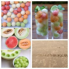 TIP, voor de aankomende zomerdagen: bevroren meloenballetjes in je drankje! Snijd je favoriete meloen doormidden en haal er balletjes uit met een meloenbolletjeslepel. Leg de balletjes in een bakje met wat bakpapier erop en zet in de vriezer. Na een paar uurtjes heb je prachtig bevroren balletjes! Je kunt ze nu meteen gebruiken, of in een diepvrieszakje bij elkaar doen en terug de vriezer in. Mooie server-tip