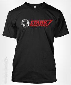 Stark Industries - Ironman fan movie marvel comic book superhero novelty vintage retro distressed world globe logo tshirt t-shirt tee shirt on Etsy, $15.95