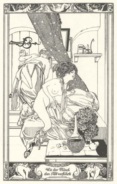 Franz von Bayros - Wie der Monch den Abtverfuhrte France, Illustration, Sexy, Riddles, Illustrations, French Resources, French