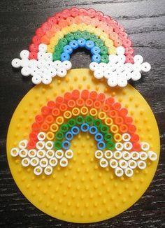 Regenbogen aus Bügelperlen