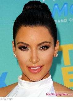 Kim Kardashian Glam Smokey Eye Makeup