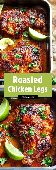 Rustic roasted chicken chicken recipes 5 pinterest dinners oven roasted chicken leg quarters forumfinder Gallery