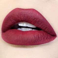 "Introducing Seductive A cranberry wine color. The ""newest Matte Lip Paint"" by . It's drop dead gorgeous on pic and lips by Lipstick Art, Lipstick Shades, Lip Art, Lipstick Colors, Liquid Lipstick, Lip Colors, Lipsticks, Wine Colored Lipstick, Wine Lipstick"