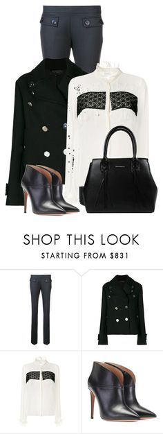 """""""For the love of Office Wear! (OUTFIT ONLY!)"""" by bliznec ❤ liked on Polyvore featuring Giambattista Valli and Aquazzura"""