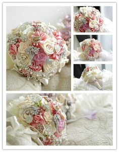 Brooch bouquet - pink