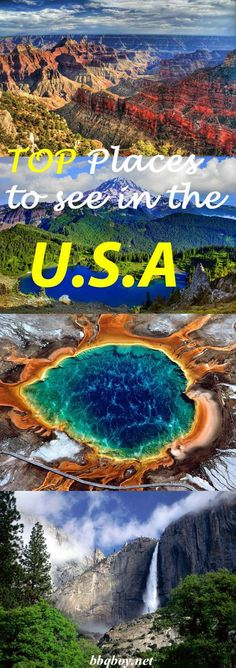 From East to West, the Top Places to Visit in the USA #USA