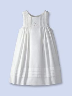 Jacadi Girls Amanda Dress Sleeveless dress Scoop neckline Pleated yoke detail Embroidered flower accents at front Gathered empire waist Pleated hem Machine washable Material: Cotton Brand: Jacadi Origin: Imported Little Dresses, Little Girl Dresses, Cute Dresses, Girls Dresses, Frock Design, Baby Girl Fashion, Kids Fashion, Toddler Outfits, Kids Outfits