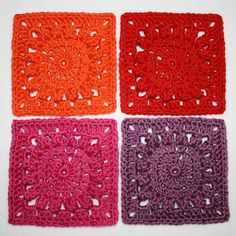 Karin on the hook: Square with Popcorn Circle - Pattern Karin on the hook: Squa. Karin on the hook: Square with Popcorn Circle – Pattern Karin on the hook: Square with Popcorn C Crochet Blocks, Crochet Squares, Crochet Granny, Crochet Motif, Diy Crochet, Crochet Flowers, Crochet Patterns, Granny Squares, Crochet Afghans
