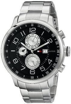Tommy Hilfiger 1790860 Reloj de hombre de acero inoxidable con brazalete de eslabones