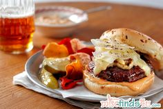 """Being a vegetarian doesn't mean there's nothing to enjoy hot off the grill! Here's a mushroom and BBQ sauce """"burger"""" that's hearty and savory! #vegetarian #meatless #recipe"""