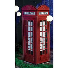 This London Phone Booth allows you to bring London to your next event. The authentic looking printed cardboard phone booth measures 7 ft 4 inches high x 2 ft 9 inches wide & deep. London Theme Parties, British Themed Parties, British Party, London Party, British Wedding, British Pub, London Phone Booth, Telephone Booth, Party Props