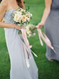 Photography : When He Found Her | Floral Design : Ooh La La Designs | Bridesmaids Dresses : White Toronto Read More on SMP: http://www.stylemepretty.com/2016/01/22/pretty-peach-toronto-wedding/