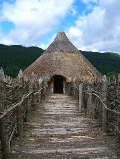 A reconstruction of a prehistoric loch dwelling on Loch Tay, Scotland