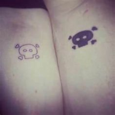 I like the idea of same tattoo in different shades for a sibling tattoo with my brother <<yes! i wouldnt get skulls but something else would be awesome :P Matching Tattoos For Siblings, Sibling Tattoos, Family Tattoos, Couple Tattoos, Love Tattoos, Tatoos, Lizard Tattoo, K Tattoo, Tattoo Life