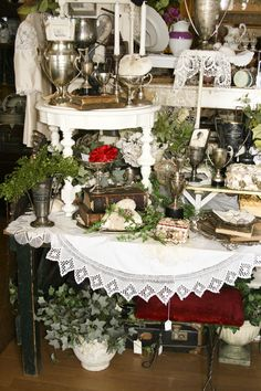 antique mall booth display ideas | As in every other business on earth, trying to be all things to all ...