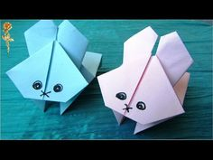 Origami : 🐰 Lapin sauteur 🐇 très amusant 🤣
