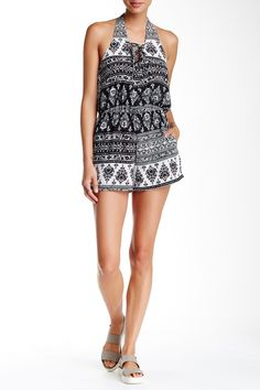 Halter Neck Printed Romper by Mimi Chica on @nordstrom_rack