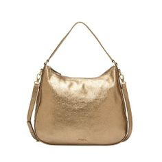 Fossil Memoir Hobo Gold shinny leather purse top zip NWT for sale online New Handbags, Gold Leather, Memoirs, Leather Purses, Fossil, Best Deals, Metal, Shoulder Bags, Wallets
