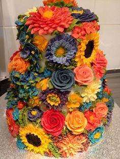 beautiful floral cake artistry - arti cakes