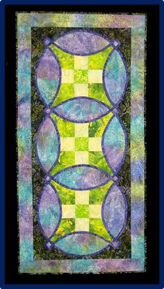 Knotwork nine patch table runner by Amanda Whitsel. 2013 quilt show, Cotton Patch Quilters (Georgia)