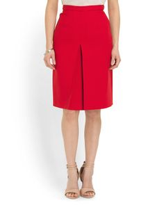 Made In Italy Red Pencil Skirt