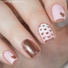 Rose Gold Disney Nail Art - Mickey Mouse Rose Gold Glitter Nails - Gorgeous Rose Gold Nails Perfect For Summer -Rose Gold Nail Polish, Rose Gold Chrome Nails, Rose Gold Glitter, Rose Gold Gel Nails Gold Nail Art, Rose Gold Nails, Pink Nails, My Nails, Gold Art, Nail Art Diy, Easy Nail Art, Glitter Nails, Gold Glitter