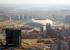 Tianjin Olympic Stadium Olympic Venues, Soccer Stadium, Tianjin, Seattle Skyline, Olympics, China, Travel, Viajes, Destinations
