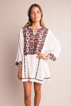 Embroidered Mini Dress from Prism Boutique