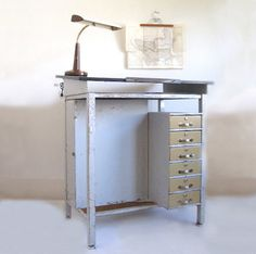 Metal Drafting Table Pinned from Thank You For Being Sophisticated.