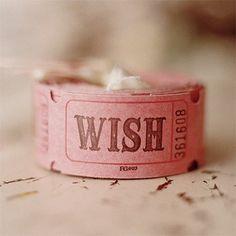 Wish ticket