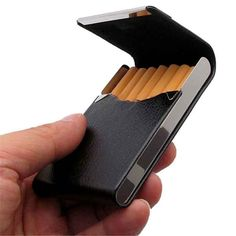 PU leather tobacco cigarette door card box container homes ticket