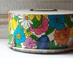 I remember we had this vintage floral pattern on our sugar, flour, coffee and tea canisters growing up!