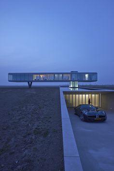 360 °: Design Villa Kogelhof in Zeeland - cool architecture - Architektur Architecture Bauhaus, Cantilever Architecture, Le Corbusier Architecture, Architecture Awards, Residential Architecture, Amazing Architecture, Contemporary Architecture, Landscape Architecture, Interior Architecture