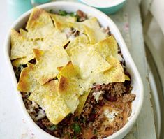 This substantial Mexican beef bake makes a hearty and delicious family meal. Minced Beef Recipes, Mince Recipes, Ground Beef Recipes, Cooking Recipes, Chicken Recipes, Easy Weeknight Meals, Quick Meals, Easy Dinners, Stew And Dumplings
