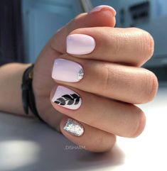Unhas curtas decoradas: 80 ideias e tutoriais para fazer em suas unhas - de uñas acrilicas bonitas cortas decoradas de moda gelish Spring Nail Trends, Spring Nails, Cute Nails, Pretty Nails, Hair And Nails, My Nails, Dream Nails, Nail Decorations, Nails Inspiration