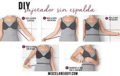 DIY backless bra   Sujetador para prendas con escotes en la espalda