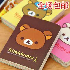 free shipping korean stationery planner cute rirakuma journal diary notebook