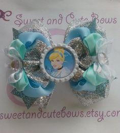 Cinderella Hair Bow headband hair clip hair by SweetandCuteBows, $13.50